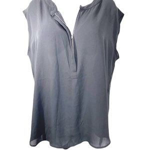 Apt 9 Semi- Sheer Zippered Sleeveless Blouse
